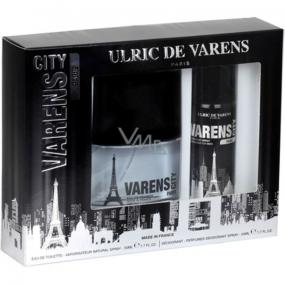Ulric de Varens City Paris toaletná voda 50 ml + deodorant sprej 50 ml, darčeková sada
