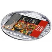 Alufix Grilovací hliníkové misky okrúhle priemer 34 cm, 3 kusy