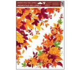 Okenné fólie bez lepidla rohová 38 x 30 cm, jesenné lístie č.1