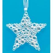 Hvězda třpytivá na zavěšení 9,5 cm