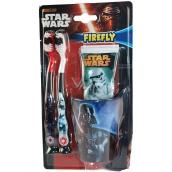 Disney Star Wars zubní pasta pro děti 75 ml + 2 x zubní kartáček + kelímek, kosmetická sada pro děti, expirace 12/2018