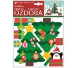 Skladacích vianočná papierová ozdoba vianočný stromček 23 x 19 cm