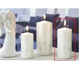 Lima Starlight sviečka biela / strieborná valec 60 x 120 mm 1 kus