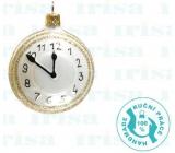 Irisa Baňky skleněné bílé, hodiny, sada 6,5 cm 2 kusy