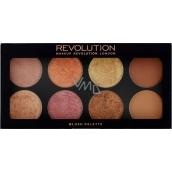 Makeup Revolution Ultra Blush Palette Golden Sugar 2 paletka tváreniek 13 g