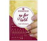 Essence Go for Gold Nail Stickers nálepky na nechty 74 kusov