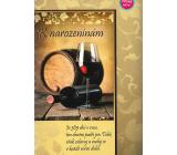 Albi Hracie prianie do obálky K narodeninám Zátišie s vínom Zbraslavská polka Dychová hudba pod vedením Henricha Bauera 14,8 x 21 cm