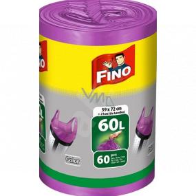 Fino Color Sáčky do odpadkového koša s ušami fialový 60 litrov 59 x 72 cm 13 μ 60 kusov