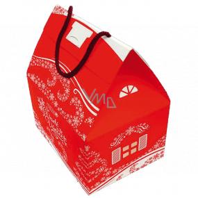 Liran Vianočné balenie čierneho a bieleho čaju Domček veľký 4 x 4 x 2 g