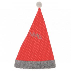 Mikulášska čiapka textilný červená 47 cm