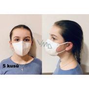 Crdlight Respirátor FFP2 tvárová maska pre deti biela 5 kusov