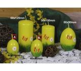 Lima Jarní motiv svíčka žlutá vajíčko malé 40 x 60 mm 1 kus