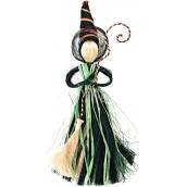 Čarodejnica sa zelenou sukňou 25 cm