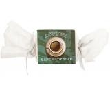 Bohemia Gifts & Cosmetics Coffee ručne vyrábané toaletné mydlo s kofeínom a glycerínom bonbón 30 g