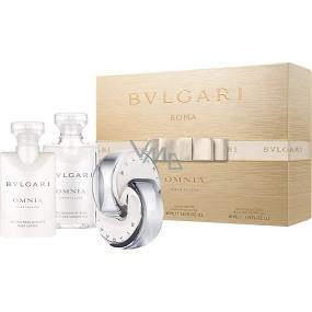 Bvlgari Omnia Crystalline toaletná voda pre ženy 40 ml + telové mlieko 40 ml + sprchový gél 40 ml, darčeková sada