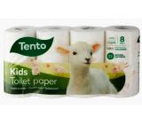 Tento Kids toaletný papier biely s potlačou zvieratiek 3 vrstvový 150 útržkov 8 kusov