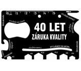 Albi Multináradie do peňaženky 40 Let záruka kvality 8,5 cm x 5,3 cm x 0,2 cm