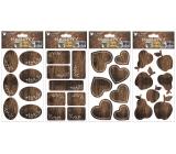 Samolepka popisovacie imitácia dreva 21 x 12 cm