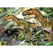 Prime3D Plakát Dinosauři - dvojitá potíž 39,5 x 29,5 cm