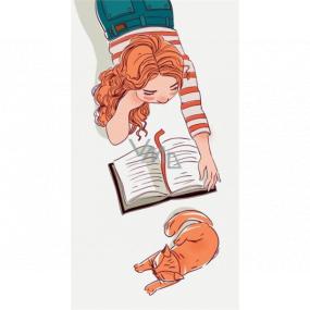 Albi Magnetická záložka do knižky Dievča si číta 8,7 x 4,4 cm
