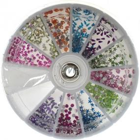 Professional Ozdoby na nechty kamienky farebný mix 12 farieb 1 balenie