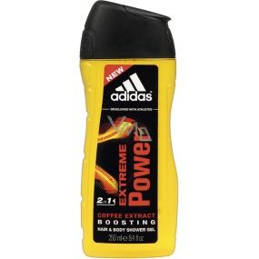 Adidas Extreme Power 2v1 sprchový gel na tělo a vlasy pro muže 250 ml