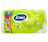 Zewa Deluxe AquaTube Camomile parfémovaný toaletní papír 3 vrstvý 150 útržků 8 kusů, rolička, kteru můžete spláchnout