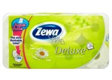 Zewa Deluxe Aqua Tube Camomile Comfort parfumovaný 3 vrstvový 150 útržkov 8 kusov, rolička, ktorú môžete spláchnuť