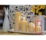 Lima Pastel sviečka metal tmavo žltá vajíčko 40 x 60 mm 1 kus