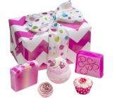 Bomb Cosmetics Třpytivka - Glitter Gift balistik 160 g + kulička 30 g + košíček 30 g + mýdlo 2x100 g, kosmetická sada