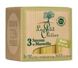 Le Petit Olivier Olivový olej Mairseillské mýdlo 3 x 100 g