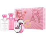 Bvlgari Omnia Pink Sapphire toaletní voda pro ženy 40 ml + tělové mléko 40 ml + sprchový gel 40 ml, dárková sada