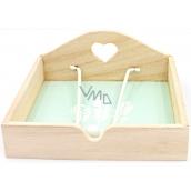 Nekupto Home Decor Drevená krabička na obrúsky pierka 18,5 x 18,5 x 7,5 cm