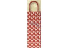 Nekupto Dárková kraftová taška na láhev 33 x 10 x 9 cm Vánoční 389 WCLH