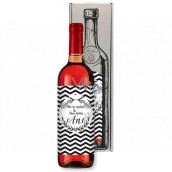Bohemia Gifts Ružové svadobné víno On sa spýtal a Ona povedala Áno darčekové víno ku svadbe 750 ml