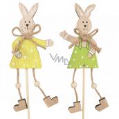 Zajačik s topánočkami drevený zápich 13 cm + špajle 1 kus