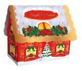 Liran Vianočné balenie zeleného čaju Domček biely 20 x 2 g