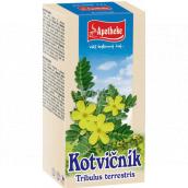 Apotheke Kotvičník zemný čaj pozitívne ovplyvňuje funkciu pohlavných orgánov, prispieva k normálnej funkcii močovej sústavy 20 x 1,5 g