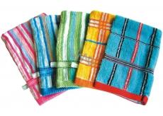 Abella Žinka froté rukavice Vzor rôzne farby s pútkom 1 kus