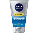 Nivea Men Active Energy osvěžující mycí gel na obličej 100 ml