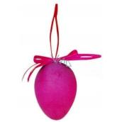 Vajíčko stříkané závěs fialové 6 cm, 1 ks