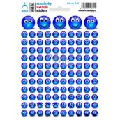 Arch Školské mini samolepky modrí smajlíci