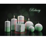 Lima Aromatická spirála Relaxy svíčka bílo - zelená krychle 65 x 65 mm 1 kus