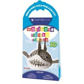 Priestorové zvieratko z mozaiky Žralok 10,5 x 21,5 x 4 cm