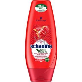 Schauma Nature Moments šťavnatý malina a slnečnicový olej pre ochranu farby a lesk balzam na vlasy 200 ml