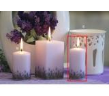 Lima Lavender svíčka světle fialová válec 50 x 100 mm 1 kus