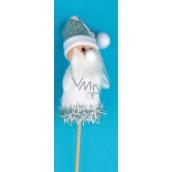 Santa figúrka biela zápich 8 cm + špajle