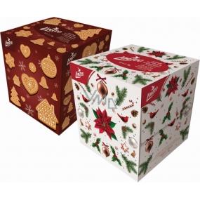 Linteo Vianočné jemné papierové vreckovky s balzamom bielej 2 vrstvové 80 kusov