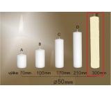 Lima Gastro hladká sviečka slonová kosť valec 50 x 300 mm 1 kus