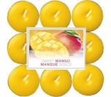 Bolsius Aromatic Sweet Mango - Sladké mango vonné čajové sviečky 18 kusov, doba horenia 4 hodiny